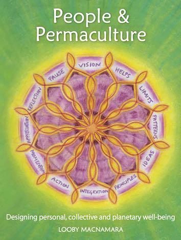 Front cover of People and Permaculture with mandala of Design Web